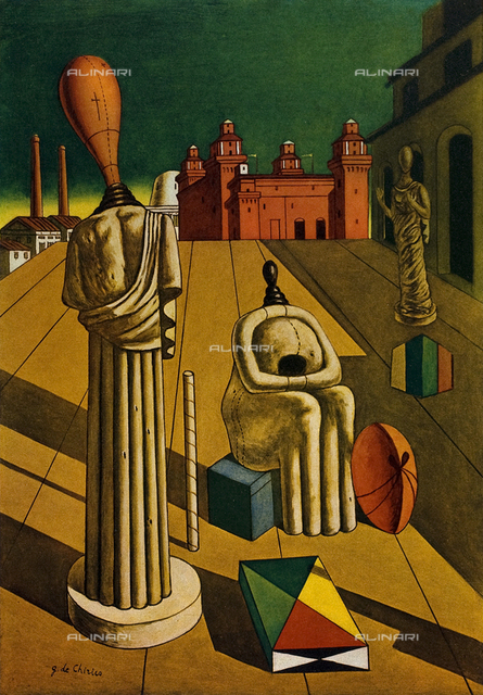 Disquieting Muses, 1925, oil on canvas, Giorgio de Chirico (1888-1978), Private Collection