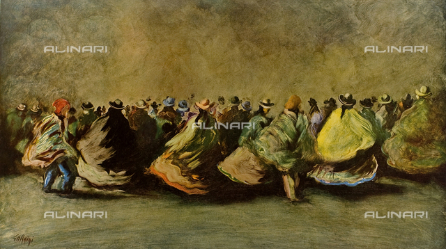 Peruvian folklore, painting, Sergio Chesini