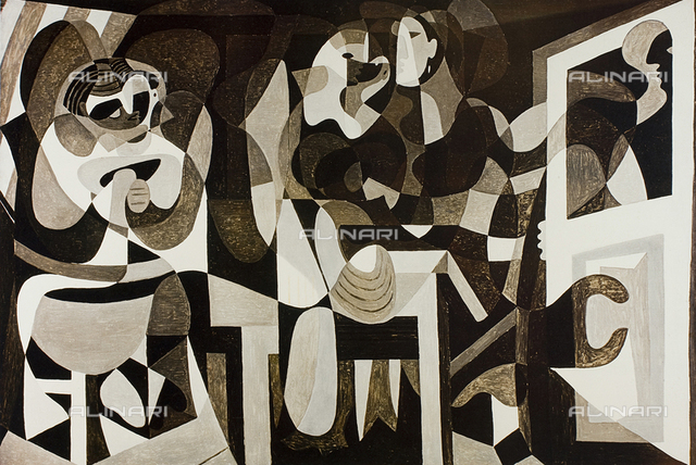 The atelier of the milliner, oil on canvas, Picasso Pablo (said), Ruiz Blasco Pablo (1881-1973), Musée National d'Art Moderne, Centre George Pompidou, Paris