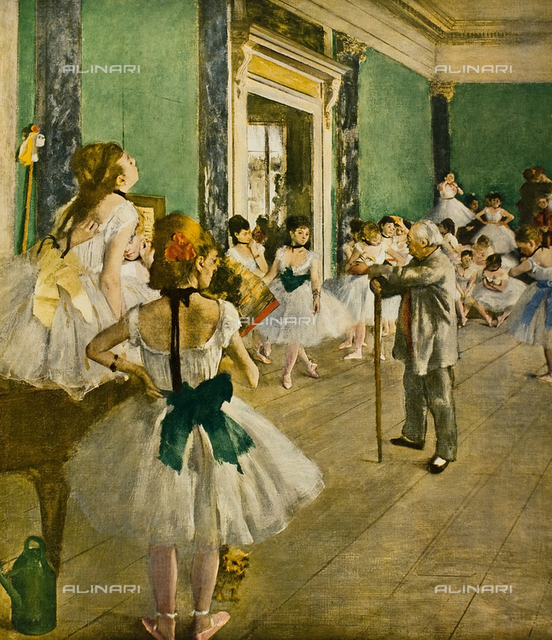 Dance lesson, oil on canvas, Edgar Degas (1834-1917), Musée d'Orsay, Paris