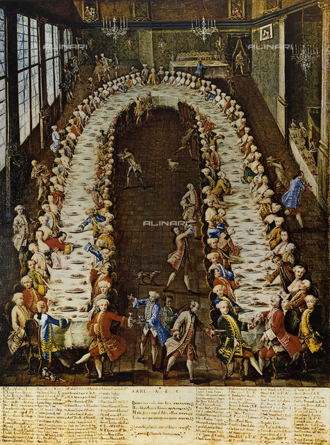 The banquet at the Nani home, Museum of the venetian 18th century, Ca' Rezzonico, Venice