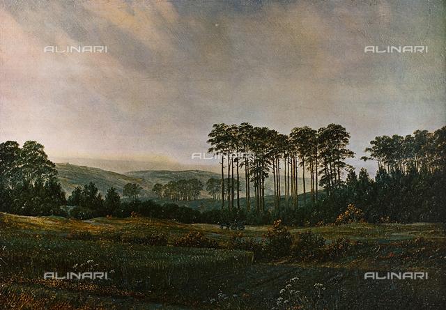 Pomeriggio, olio su tela, Caspar David Friedrich (1774-1840), Castello di Charlottenburg, Berlino