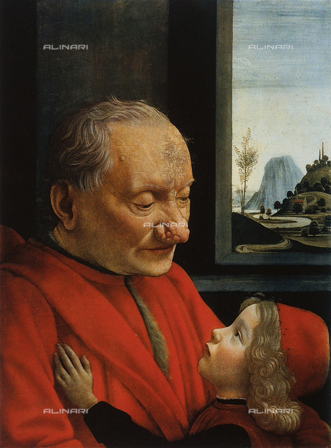 Portait of an old man with child, Louvre Museum, Paris.