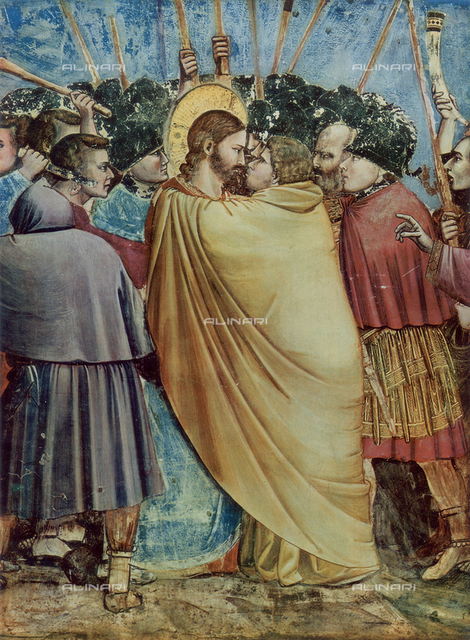 The kiss of Judas, Christ's Capture, Scrovegni Chapel, Padua