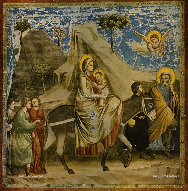 The flight to Egypt - Scrovegni Chapel, Padua