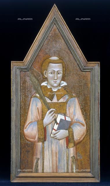 Holy Martyr, Meo da Siena (school), National Gallery of Umbria, Perugia