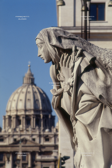 S. Catreina from Siena, 1961, marble, Francesco Messina (1900-1995), Castel Sant'Angelo, Rome