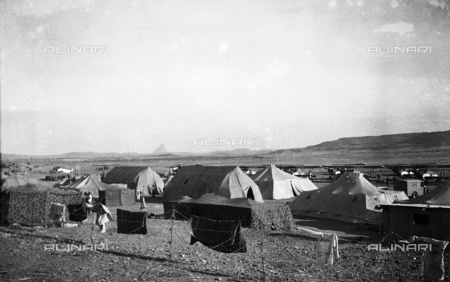 """Italo-Ethiopian War"": an Italian military encampment during the Italo-Ethiopian War (or Abyssinian War)"
