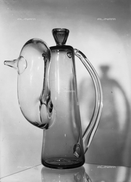 Glass art of Murano: glass pitcher