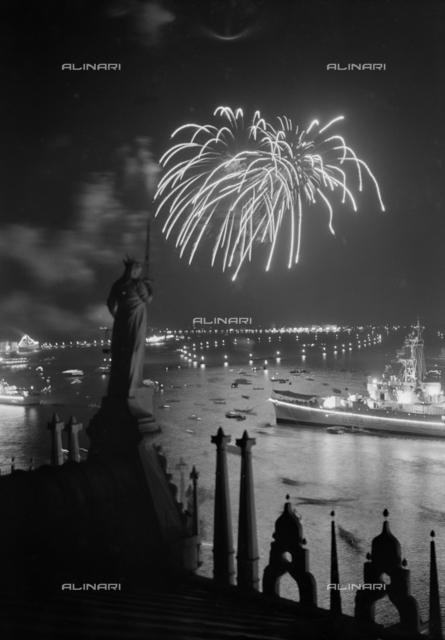 Fireworks during the Night Festival degli Schiavoni, Venice
