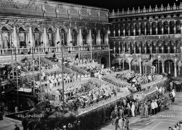 Concert of the RAI National Symphonic Orchestra in Piazza San Marco, Venice