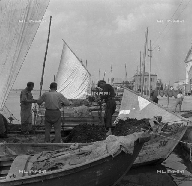 Portrait of fishermen, San Pietro in Volta, Island of Pellestrina, Venice