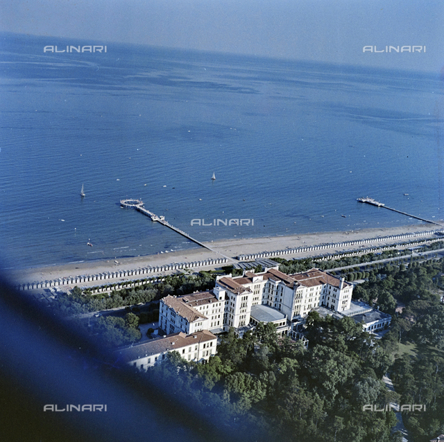 Aerial view of the lagoon, Venice