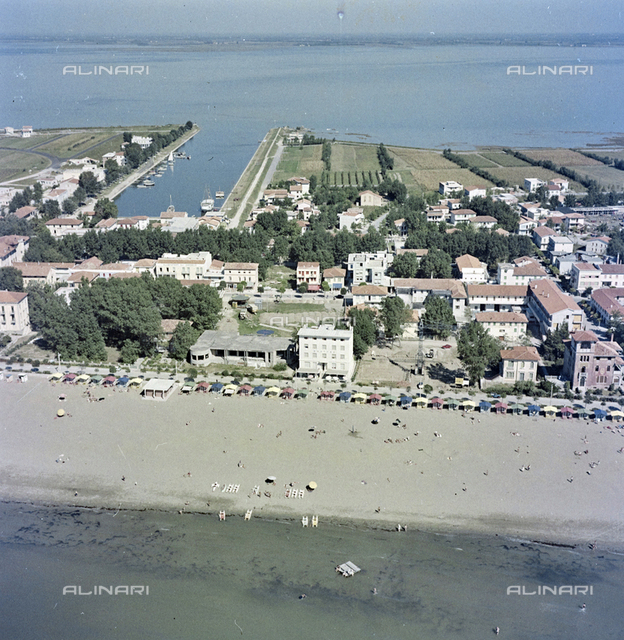 Aerial view of the coast, Venice
