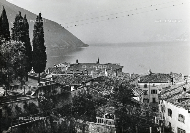 View of Lake Garda from Trulli in Trentino Alto Adige