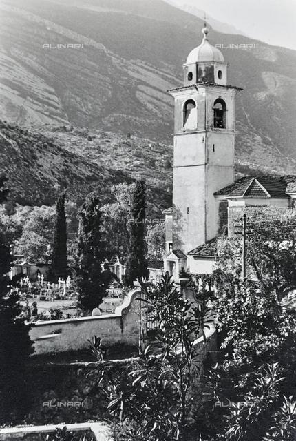 The church and the cemetery of Torbole in Trentino Alto Adige
