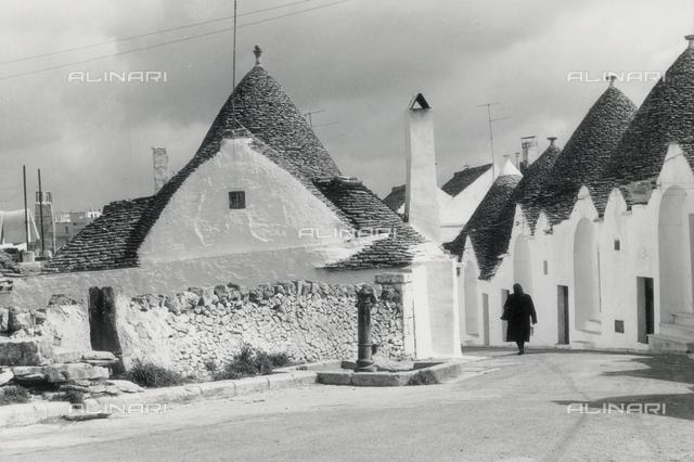 A street in Alberobello with the trulli