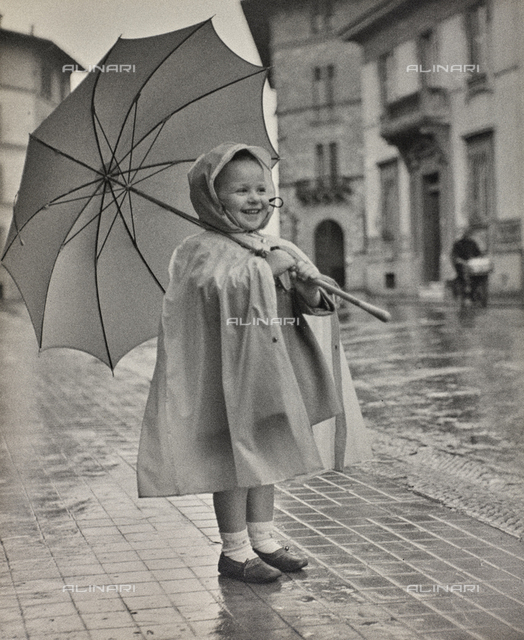 """Juliet with umbrella"", portrait of little girl"