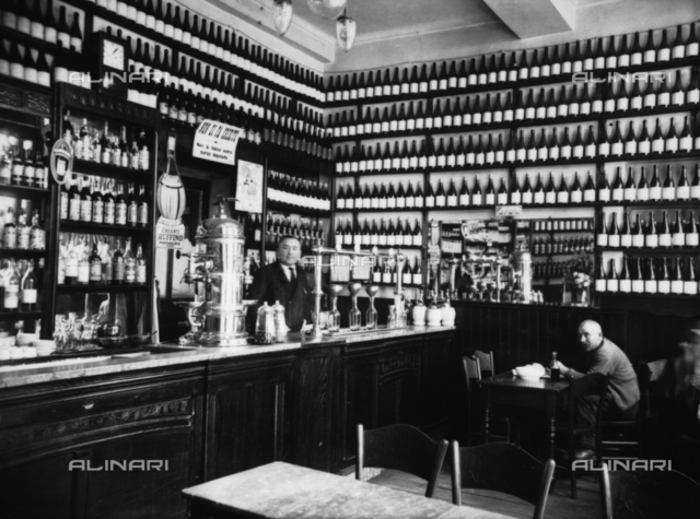 Interior of a Caffè-Wine Bar, Turin