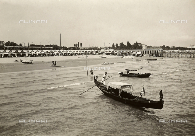 The beach of the Lido of Venice