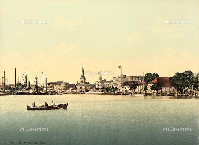 View of Swinuojscie, Polish city on the Baltic Sea.