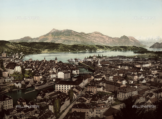 View of the city of Luzern, Switzerland.