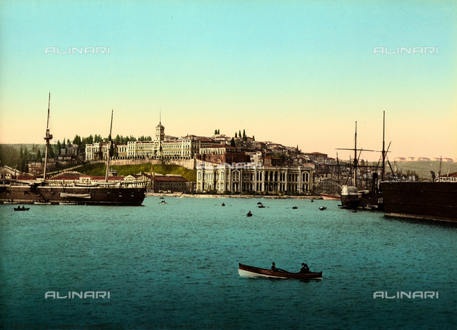 The port of Istanbul facing the Golden Horn