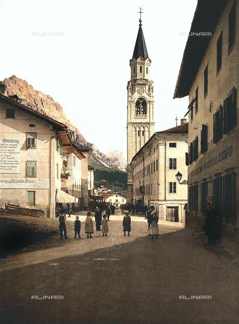 Tirol during the Austro-Hungarian Empire: Cortina. Church of Saints Filippo and Giacomo