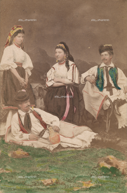 Group portrait in traditional dress