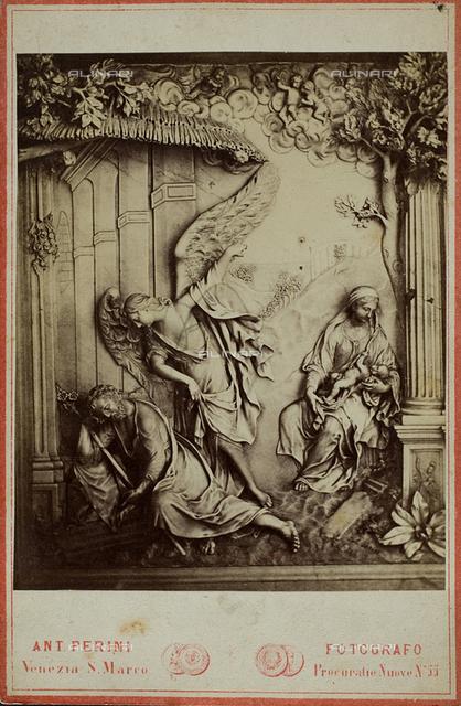 The dream of Saint Joseph, marble, Francesco Bonazza (1695 ca.-1770), Chapel of the Rosary, Church of Santi Giovanni and Paolo, Venice