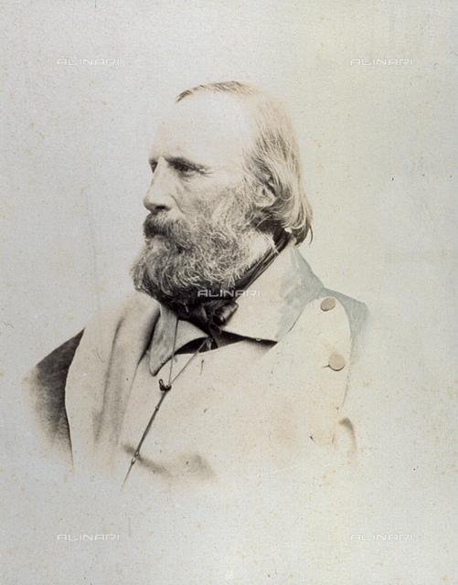 Half-length portrait of Giuseppe Garibaldi