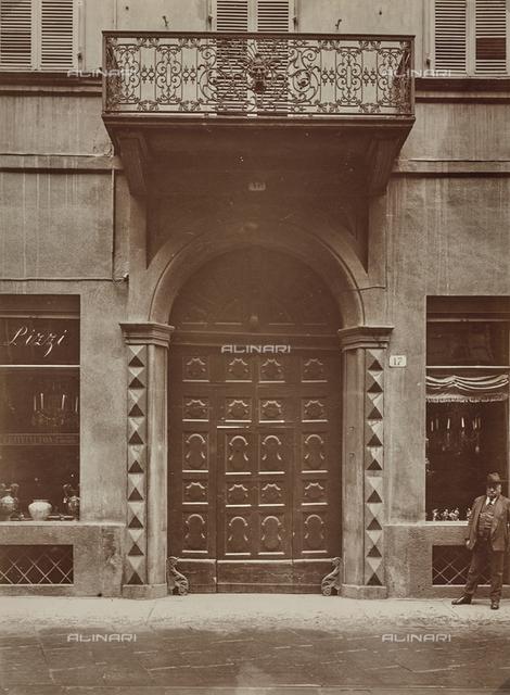 Door of a building in Turin