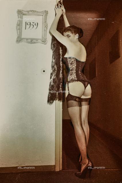 Female portrait in lingerie