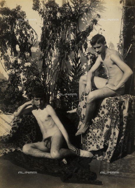 Male nude group