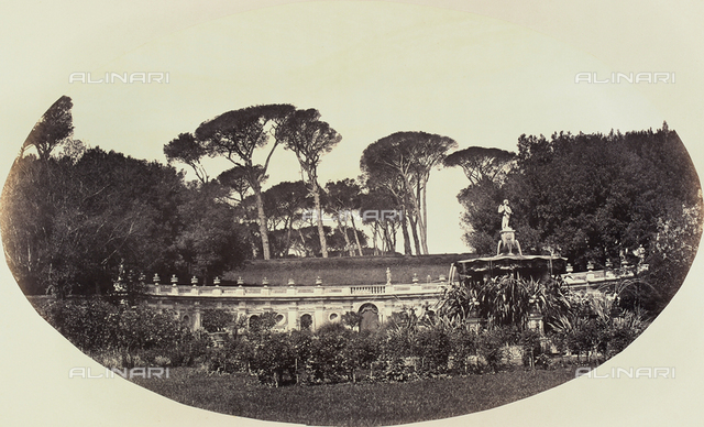 The Fountain of Lillies, park of Villa Pamphilj, Rome