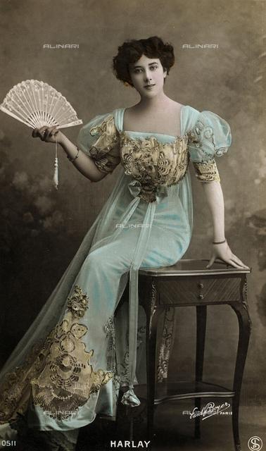 Female portrait, postcard