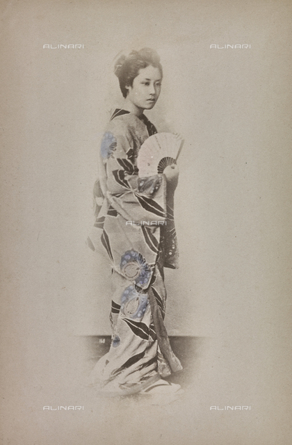 Young japanese in traditional clothes