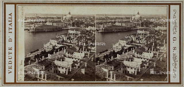 Panorama of Venezia from the Bell tower of San Marco; Stereoscopic photograph