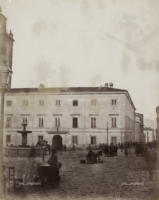 View of the City Hall in Piazza Palazzo, L'Aquila