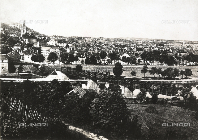View of the city of Besanà§on, important French fortress, before the German occupation.