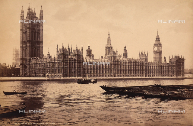 The New Palace of Westminster - the House of Parliament, London
