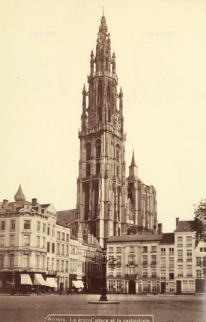 The tower of the Cathedral of Our Lady, in Antwerp