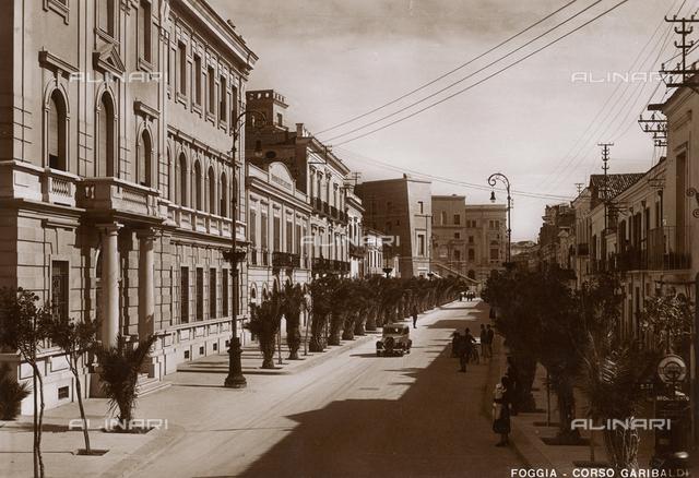 Foggia, Corso Garibaldi, postcard