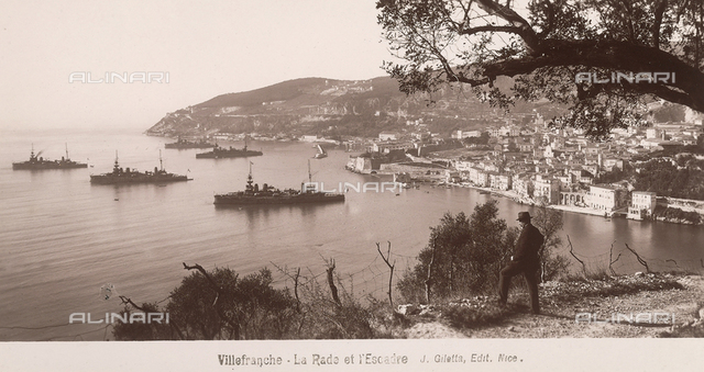 Panorama of Villefranche-sur-Mer, in France