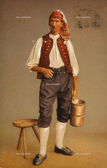 Male portrait in traditional Swiss dress