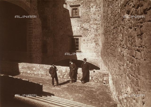 Tourists in the Orsini di Bracciano castle, Rome
