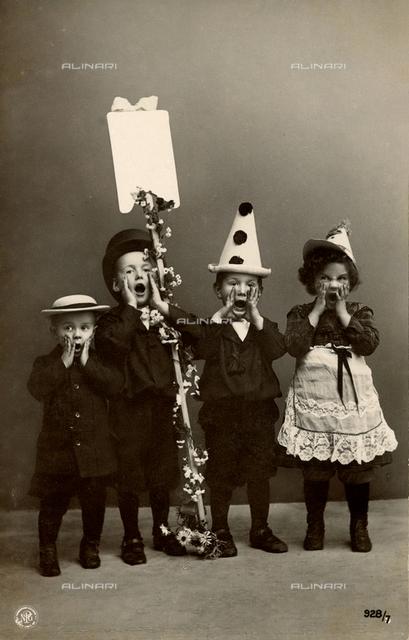 Children dressed as carnival