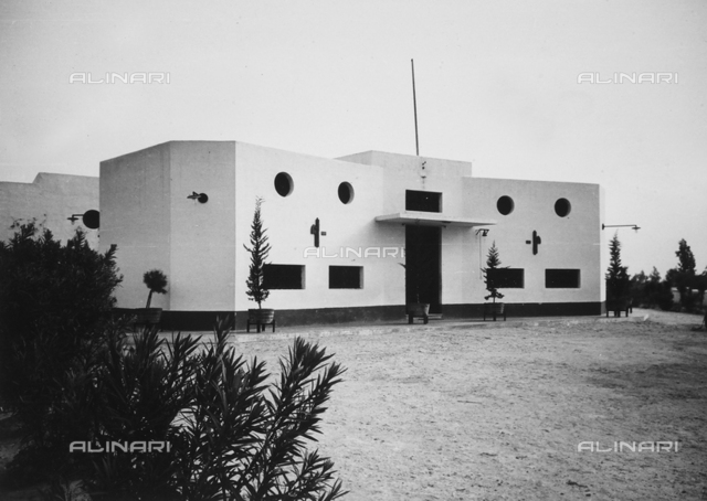 External view of the Sanatorium, in Tripoli.
