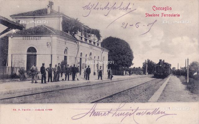 Coccaglio train station, province of Brescia