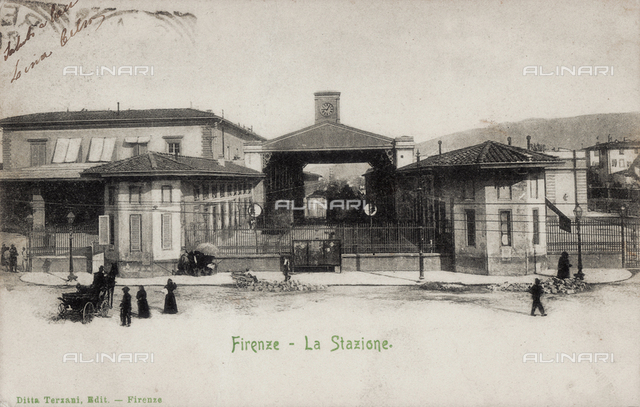 The station designed by Enrico Maria Antonia Present (on the site where will be built the new station of Santa Maria Novella), Florence